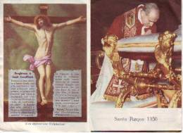Pasqua 1956 Papa Pio XII°,  Santino Pieghevole Con Preghiera - Religion & Esotérisme
