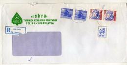 Yugoslavia Croatia Zelina - Registered Letter  Used Stamp Children´s Week - 1945-1992 République Fédérative Populaire De Yougoslavie