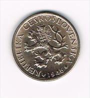° TSJECHOSLOWAKIJE  1 KORUNA  1946 - Tchécoslovaquie