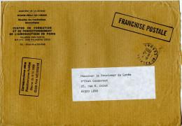 Griffe Franchise Postale,Palaiseau,Essonne 11.2.1986,Centre De Formation Perfectionnement De L'aéronautique Paris,Armée - Post