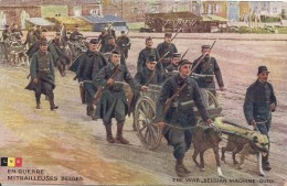 Cpa Mitrailleuses Belges Tirees Par Chiens - Guerra 1914-18
