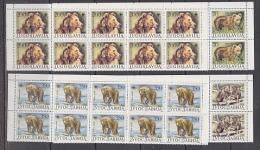 Yugoslavia 1987 WWF / Bears 4v  Strips Of 10 ** Mnh (F5040) - W.W.F.