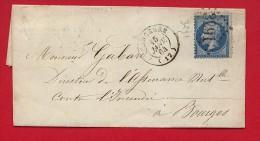 Pli Sancerre (Cher)  Janvier 1864 - GC 3291 - Marcophilie (Lettres)