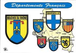 13- BLASON-BOUCHES DU RHONE-ARLES-MARSEILLE-AIX EN PROVENCE-Stes MARIES DE LA MER CASSIS-SALON DE PROVENCE -DEPARTEMENTS - Frankreich