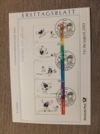 Germany, Deutschland, First Day Sheet, ETB, Jugend, Erich Ohser, Comics, Father And Son, Vater Und Sohn, 2003 - Fairy Tales, Popular Stories & Legends
