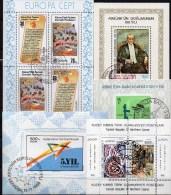 5 Blocks Türkei-Zypern Block 1,2,3,7+12 O 16€ Gemälde CEPT Meer Bloques Hb M/s History Blocs Art Sheets Bf Turkey/Cyprus - Chypre (Turquie)