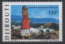 Djibouti Dschibuti 1999 Mi. 674 ** Neuf MNH Journée Mondiale Télécom Chèvres Goats Ziegen Esel âne Donkey Fauna RARE ! - Dschibuti (1977-...)