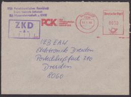 ZKD -A- Kastenstempel 1990 Schwedt AFS =DP 0030= VEB Petrolchemisches Kombinat PCK Benzin - Oficial