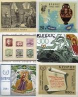 6 Blocks 1967 Zypern Block 5,6,7,10,11+12 ** 22€ Antike Vase Bloque Hb Sport Ms History Bloc Art Sheets Bf Turkey/Cyprus - Chypre (République)