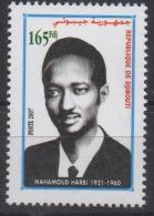 Djibouti Dschibuti 2007 Mi. 811 ** MNH Mahamoud Harbi 1921 - 1960 RARE ! - Dschibuti (1977-...)