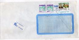 Yugoslavia Macedonia Skopje Registered Letter,used Stamps - Plane.Air 1991 - 1945-1992 République Fédérative Populaire De Yougoslavie