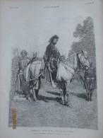 1896 L Empereur Menelik En Costume De Guerre  En Abyssinie   Ethiopie  Fantasia - Vieux Papiers