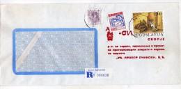 Yugoslavia Macedonia Skopje Registered Letter,used Stamps - Craft 1989 - 1945-1992 République Fédérative Populaire De Yougoslavie