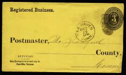 A3683) US Dienstbrief-Umschlag Von New Haven 19.10.1874 (?) - Ganzsachen