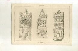 - CARTHAGE . TOMBEAUX PUNIQUES . GRAVURE SUR ACIER DU XIXe S . - Archeologia