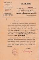 WW2 - 1944 - RÉQUISITION DE MAIN-D'ŒUVRE Pour Exécution De Travaux Militaires Allemands - - Documenti Storici