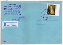 Yugoslavia Slovenia Maribor Via Macedonia Registered Letter,.stamps Art 1991 - 1945-1992 République Fédérative Populaire De Yougoslavie