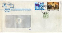 Yugoslavia Slovenia Ljubljana Registered Letter,.stamp 1989.- New Delhi India Harare Zimbabwe Africa - 1945-1992 République Fédérative Populaire De Yougoslavie