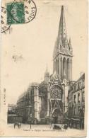 Caen Eglise Saint-Pierre 1910. - Caen