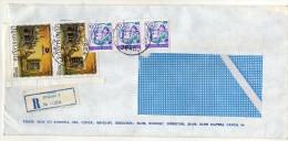 Yugoslavia Serbia Kosovo Prizren Registered Letter,.stamp 1989.- New Delhi India Harare Zimbabwe Africa - 1945-1992 République Fédérative Populaire De Yougoslavie