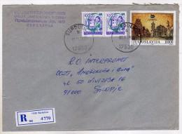 Yugoslavia Serbia Surdulica Registered Letter,.stamp 1989.- Colombo,Sri Lanka,Havana,Cuba - 1945-1992 République Fédérative Populaire De Yougoslavie