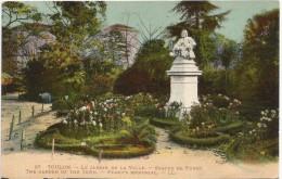 Toulon Le Jardin De La Ville Statue De Puget 1922. - Toulon