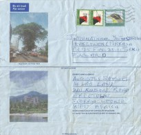 Sierra Leone 1999 Freetown Malimbe Le100 Bunting Le300 Aerogramme. Earlier Date Than Sehler! - Sierra Leone (1961-...)