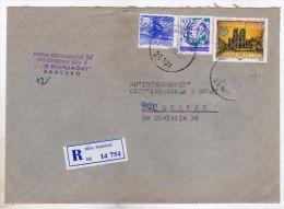 Yugoslavia Serbia Pancevo Registered Letter Via Skopje Macedonia.stamp 1989.- UNESCO,Paris,France - 1945-1992 République Fédérative Populaire De Yougoslavie