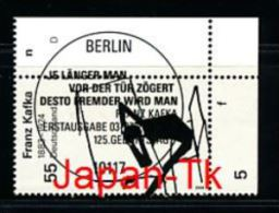 GERMANY  Mi.Nr. 2680 Franz Kafka - ESST Berlin - Eckrand Oben Lrechts - Used - BRD