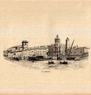 1891 - Gravure Sur Bois - La Ciotat (Bouches-du-Rhône) - Vue Générale - FRANCO DE PORT - Estampes & Gravures