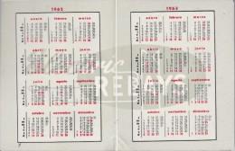 CALENDARIO DEL AÑO 1962 Y 1963 DE RALUX DE ELECTRIC RELAYS (CALENDRIER-CALENDAR) - Tamaño Pequeño : 1961-70