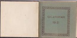 CALENDARIO SANTORAL DEL AÑO 1931 (CALENDRIER-CALENDAR) CALENDRIER 1931 - Tamaño Pequeño : 1921-40