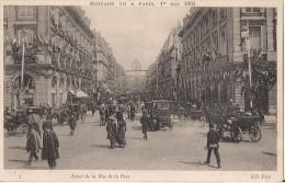 EDOUARD VII A PARIS LE 1 ER MAI 1903 ASPECT DE LA RUE DE LA PAIX CPA TRES ANIMEE - Arrondissement: 02