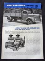 Prospectus Camion Daimler Mercedes Benz Type L 6600 - Trucks