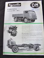 Camion Fourgon TIGROTTO OM Brescia Milan Suzzara - Camions