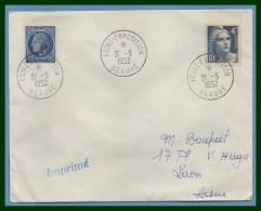 Bureau Temporaire Foire Exposition Beaune 31/5/ 1952 / N° 725 + 791 Gandon Céres - Cachets Commémoratifs