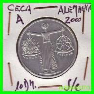 ALEMANIA  - BRD  - MONEDA DE 10 DM  PLATA  S/C  AÑO 2000-A - [10] Conmemorativas
