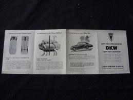 Dépliant En 4 Volets Pour DKW Auto Union Ingolstadt - Voitures