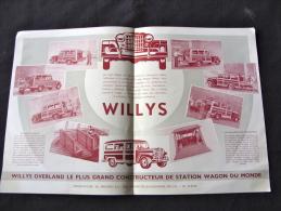 Prospectus Pour La Jeep Willys Station Wagon - Automobili