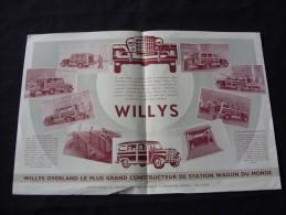 Prospectus Pour La Jeep Willys Station Wagon - Voitures
