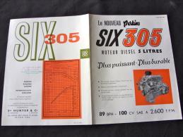 Prospectus Pour Les Moteur Camion Perkins SIX305 - Camions