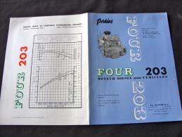 Prospectus Pour Les Moteur Camion Perkins FOUR 203 - Camions