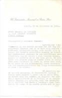 HAY QUE MATAR A PERON Y A BORLENGHI - CARTA ORIGINAL DEL 17 DE DICIEMBRE DE 1955 DIRIGIDA AL JEFE DE LA POLICIA FEDERAL - Documentos Históricos