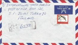Sierra Leone 1993 Bo Crocodile Bird Le500 Registered Cover - Sierra Leone (1961-...)