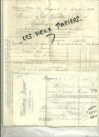 59 - Nord - BERGUES - Facture VANDROY-JASPAR – 1904 - REF 38B - France