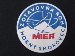 HOTEL CAMPING INN MIER HORNY SMOKOVEC CSSR CSR SLOVAKIA JUGOSLAVIA LUGGAGE LABEL ETIQUETTE AUFKLEBER DECAL STICKER - Hotel Labels