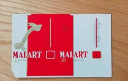 Old Empty Flattened Cigarette Pack MALART - Albania 1980's - Schnupftabakdosen (leer)