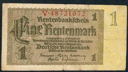 GERMANY P173b 1 RENTENMARK  3.1.1937 Letter V    F-VF - Altri