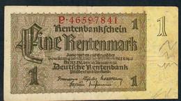 GERMANY P173b 1 RENTENMARK  3.1.1937 Letter P   F-VF - Altri