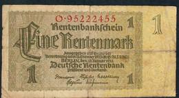 GERMANY P173b 1 RENTENMARK  3.1.1937 Letter O   F-VF - Altri